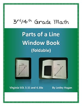 Parts of a Line Window Book (Foldable)