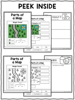 Vocabulary Activity - Parts of a Map