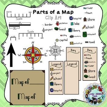Parts of a Map Clip Art