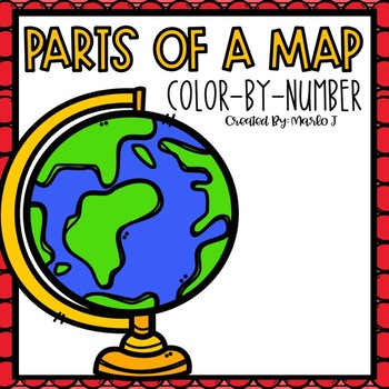 Parts of a Map Color-By-Number