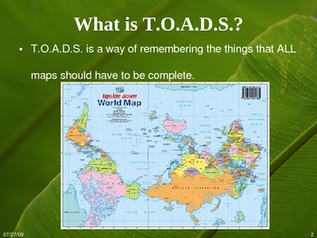 Parts of a Map (T.O.A.D.S.)