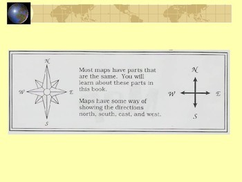 Parts of a Map and the Compass Rose