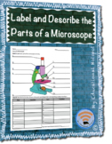 Parts of a Microscope - Label and Describe Worksheet Activity