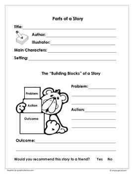 Parts of a Narrative Graphic Organizer