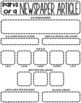 Parts of a Newspaper Article {Graphic Organiser}