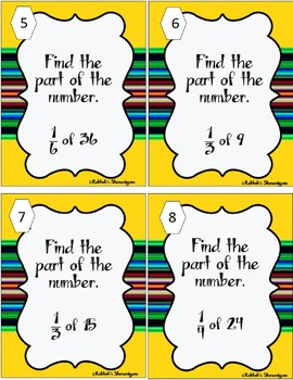 Parts of a Number Task Cards