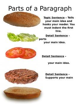 Parts of a Paragraph Hamburger