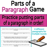 Parts of a Paragraph Game