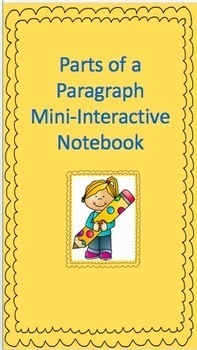 Parts of a Paragraph Mini-Interactive Notebook