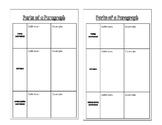 Parts of a Paragraph Note Taking Sheet