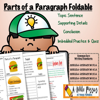 Parts of  a Paragraph Foldable