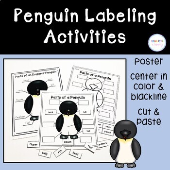 Parts of a Penguin Labeling Activities