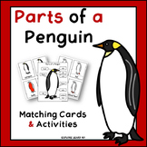 Parts of a Penguin Matching Cards & Activities / Montesorri Style / Hands-on