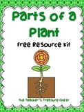 Parts of a Plant FREE Resource Kit