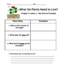 Parts of a Plant Graphic Organizer