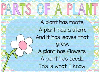 """Parts of a Plant"" Poem of the Week Flipchart for ActivInspire"