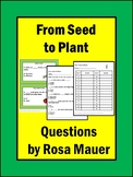 From Seed to Plant Task Cards