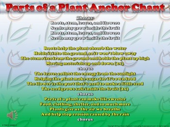 Parts of a Plant Song - Anchor Chart and Chant Audio - King Virtue