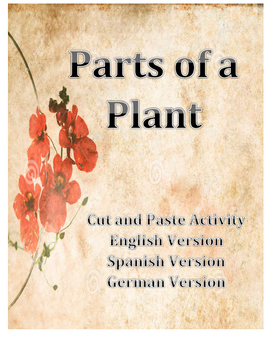 Parts of a Plant Spanish and German Versions