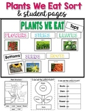 Parts of a Plant  We Eat Sort and Activity