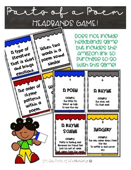 Parts of a Poem Headbands Game