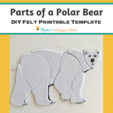 Parts of a Polar Bear Puzzle - Printable Template