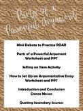 Parts of a Powerful Argument - Argumentative Unit - Debate