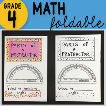Doodle Notes - Parts of a Protractor Math Interactive Notebook Foldable