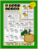Parts of a Pumpkin 3-Part Cards, Book Making Masters, and