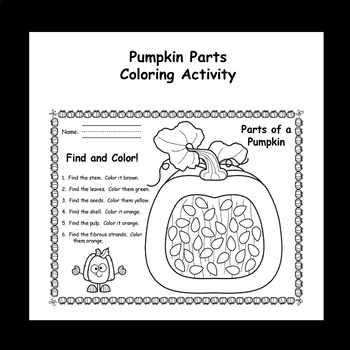 Parts of a Pumpkin - (Non-Fiction Reader, Poster, KWL, and Color Activity)