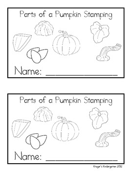 Parts of a Pumpkin Stamping Book