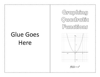 Parts of a Quadratic Function Foldable / Graphic Organizer