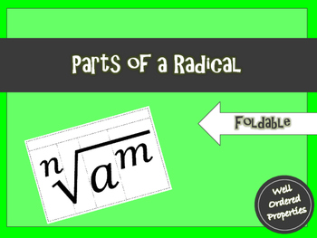 Parts of a Radical Foldable