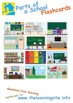 Parts Of A School Flashcard 1053075 on Lesson Plans Free Printables