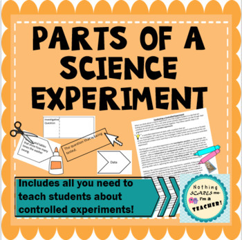 Parts of a Science Experiment Matching Activity Game