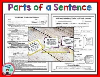 Parts of a Sentence Elementary School & Middle School Bundle
