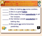 Parts of a Sentence Exercise for Smartboard