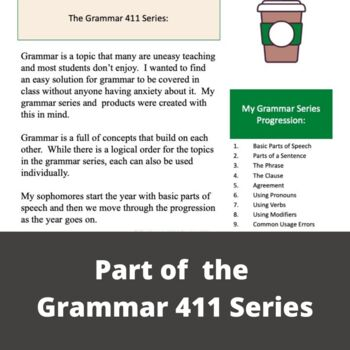 Grammar - Parts of a sentence (subjects, predicates, complements)
