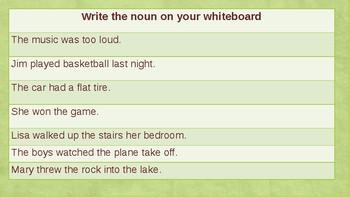 Parts of a Sentence- Noun