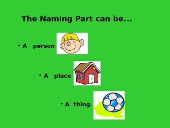 Parts of a Sentence PPT