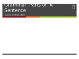 Parts of a Sentence Powerpoint