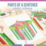 Parts of a Sentence Present Coloring Sheet