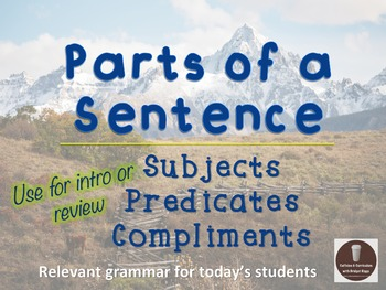 Parts of a Sentence Grammar PowerPoint Presentation