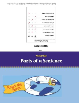 Parts of a Sentence (Take It to Your Seat Centers)