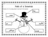 Parts of a Snowman Beginning Labeling Activity