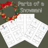 Parts of a Snowman Fun Winter Activity Montessori Preschool Homeschooling