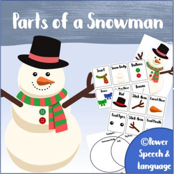 Parts of a Snowman   Winter Speech and Language Activities   Build a Snowman