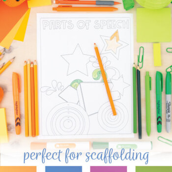 Parts of Speech Coloring Sheet