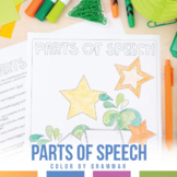 Color by Grammar: Parts of Speech Review Coloring Sheets