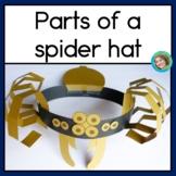 Parts of a Spider Hat Craft